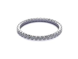 Full Diamond Eternity Ring 0.50cts. in Palladium