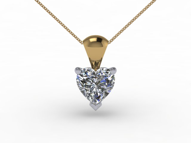Certified Heart Shape Diamond Pendants
