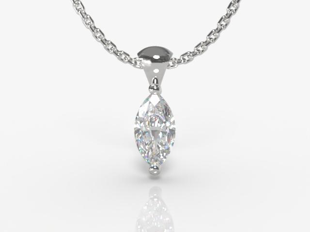 Certified Marquise Diamond Pendants