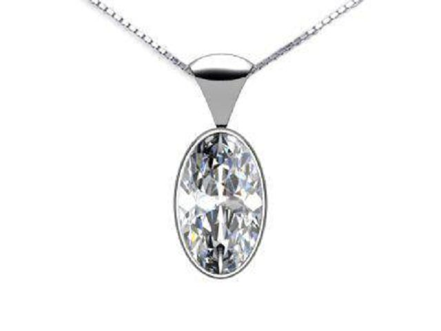 Certified Oval Diamond Pendants