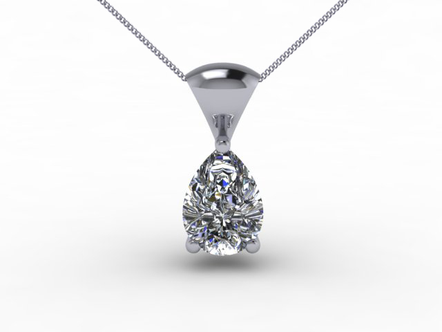 Certified Pearshape Diamond Pendants