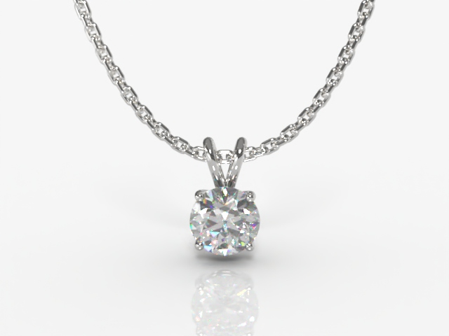 Certified Round Diamond Pendants