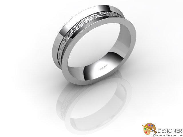 Women's Designer Platinum Court Wedding Ring