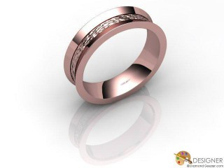 Men's Designer 18ct. Rose Gold Court Wedding Ring-D10102-0408-000G