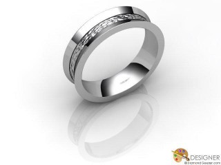 Men's Designer 18ct. White Gold Court Wedding Ring-D10102-0508-000G