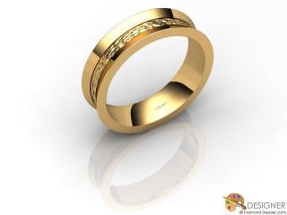 Men's Designer 18ct. Yellow Gold Court Wedding Ring-D10102-1808-000G
