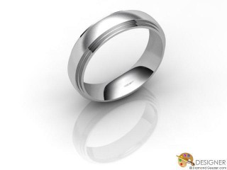 Men's Designer 18ct. White Gold Court Wedding Ring-D10113-0503-000G