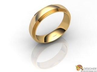 Men's Designer 18ct. Yellow Gold Court Wedding Ring-D10113-1803-000G