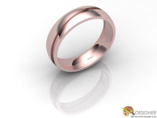 Men's Designer 18ct. Rose Gold Court Wedding Ring-D10116-0403-000G