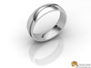 Men's Designer 18ct. White Gold Court Wedding Ring-D10116-0503-000G