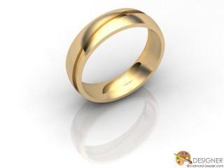 Men's Designer 18ct. Yellow Gold Court Wedding Ring-D10116-1803-000G