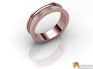 Men's Designer 18ct. Rose Gold Court Wedding Ring-D10118-0403-000G