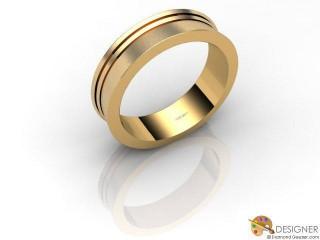 Men's Designer 18ct. Yellow Gold Court Wedding Ring-D10118-1803-000G