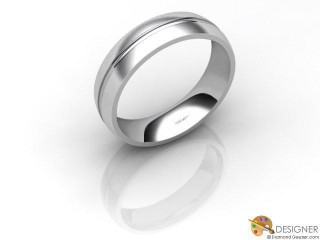 Men's Designer 18ct. White Gold Court Wedding Ring-D10124-0503-000G