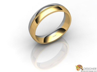 Women's Designer 18ct. Yellow and White Gold Court Wedding Ring-D10264-2801-000L