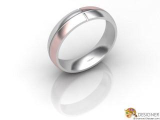 Men's Designer 18ct. White and Rose Gold Court Wedding Ring-D10265-2401-000G