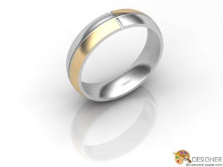 Men's Designer 18ct. Yellow and White Gold Court Wedding Ring-D10265-2801-000G