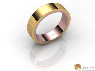 Men's Designer 18ct. Rose and Yellow Gold Court Wedding Ring-D10279-2501-000G