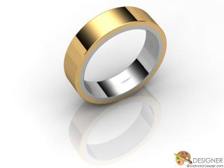 Women's Designer 18ct. Yellow and White Gold Court Wedding Ring-D10279-2801-000L