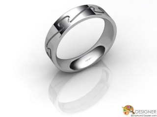 Men's Designer Platinum Court Wedding Ring-D10285-0101-000G