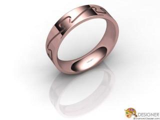 Men's Designer 18ct. Rose Gold Court Wedding Ring-D10285-0401-000G