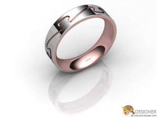 Men's Designer 18ct. White and Rose Gold Court Wedding Ring-D10285-2401-000G