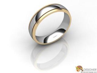 Men's Designer 18ct. Yellow and White Gold Court Wedding Ring-D10297-2801-000G