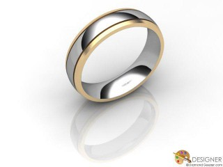 Women's Designer 18ct. Yellow and White Gold Court Wedding Ring-D10297-2801-000L