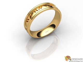 Women's Celtic Style 18ct. Yellow Gold Court Wedding Ring-D10301-1801-000L