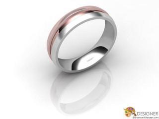 Men's Designer 18ct. White and Rose Gold Court Wedding Ring-D10308-2403-000G