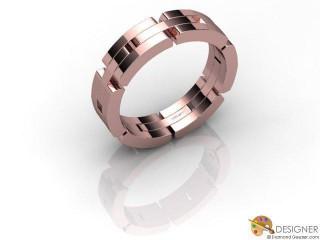 Men's Designer 18ct. Rose Gold Court Wedding Ring-D10320-0401-000G