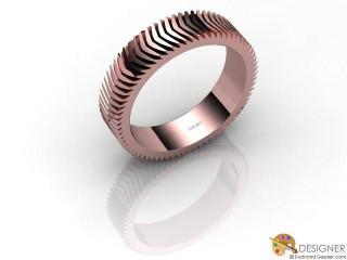 Men's Designer 18ct. Rose Gold Court Wedding Ring-D10339-0401-000G