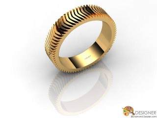 Men's Designer 18ct. Yellow Gold Court Wedding Ring-D10339-1801-000G