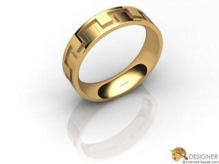 Men's Designer 18ct. Yellow Gold Court Wedding Ring-D10341-1801-000G