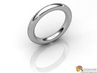 Men's Diamond Palladium Court Wedding Ring-D10344-6601-010G