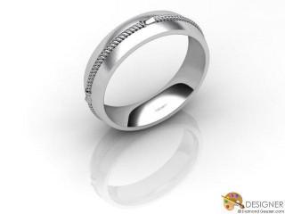 Men's Designer Platinum Court Wedding Ring-D10362-0103-000G