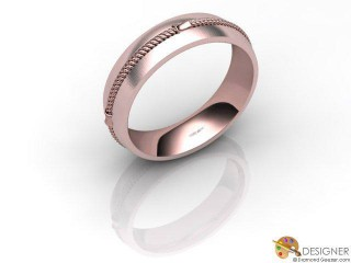 Men's Designer 18ct. Rose Gold Court Wedding Ring-D10362-0403-000G