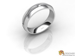 Men's Designer 18ct. White Gold Court Wedding Ring-D10362-0503-000G