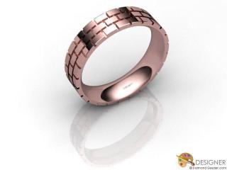 Men's Designer 18ct. Rose Gold Court Wedding Ring-D10379-0401-000G