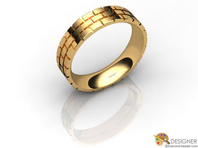 Men's Designer 18ct. Yellow Gold Court Wedding Ring