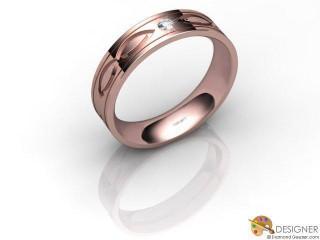 Women's Celtic Style 18ct. Rose Gold Court Wedding Ring-D10384-0401-001L