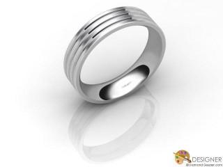 Men's Designer 18ct. White Gold Court Wedding Ring-D10385-0503-000G