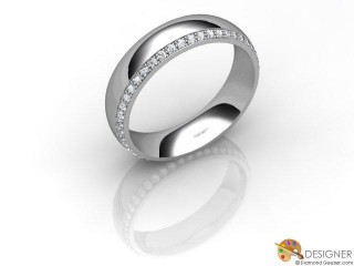 Men's Diamond Platinum Court Wedding Ring-D10387-0101-030G