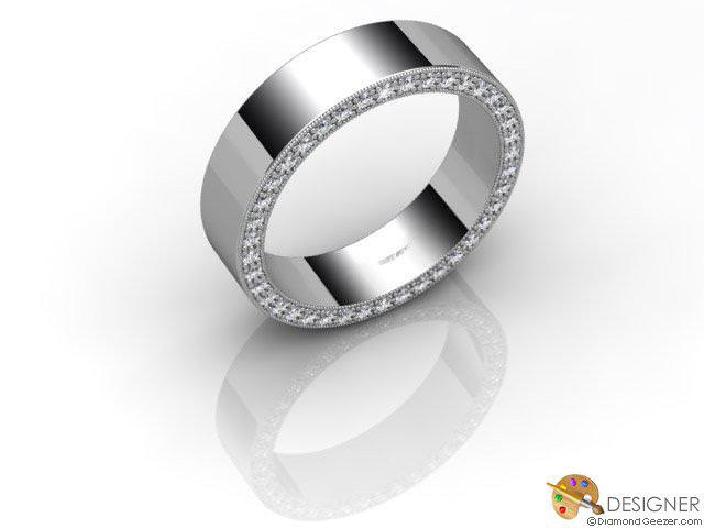 Men's Diamond Platinum Court Wedding Ring