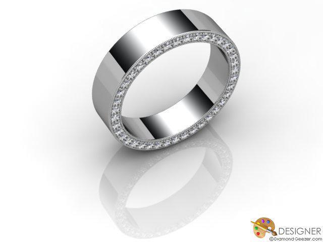 Men's Diamond Palladium Court Wedding Ring
