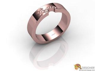 Women's Diamond 18ct. Rose Gold Court Wedding Ring-D10392-0401-000L