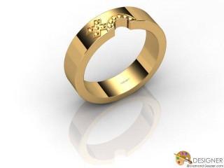 Women's Diamond 18ct. Yellow Gold Court Wedding Ring-D10392-1801-000L