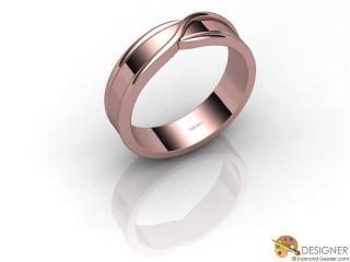 Men's Designer 18ct. Rose Gold Court Wedding Ring-D10397-0401-000G