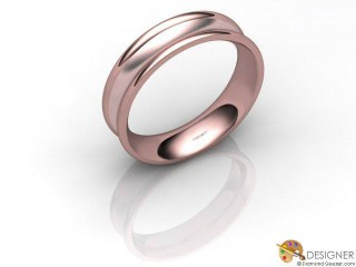 Men's Designer 18ct. Rose Gold Court Wedding Ring-D10400-0401-000G