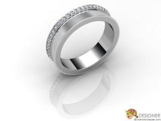 Men's Diamond Platinum Court Wedding Ring-D10448-0101-050G